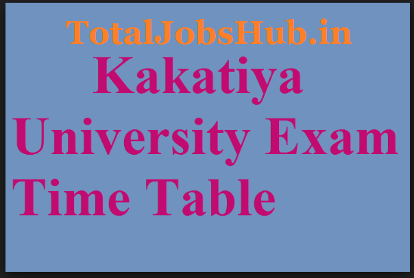 kakatiya university time table