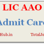 lic aao admit card