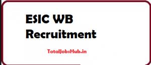 esic wb recruitment