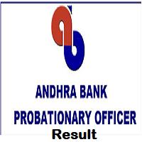 Andhra Bank PO Result