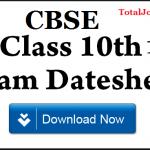 cbse board date sheet