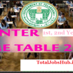 telangana intermediate time table