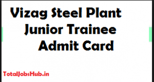 Vizag Steel Plant Junior Trainee Hall Ticket