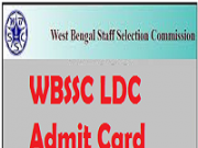 wbssc ldc admit card