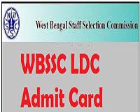 wbssc ldc admit card