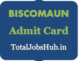 BISCOMAUN Admit Card