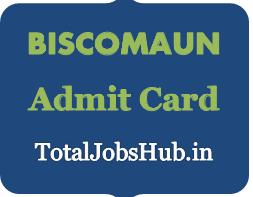 BISCOMAUN admit card