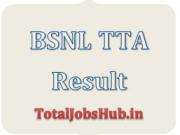 BSNL TTA Result