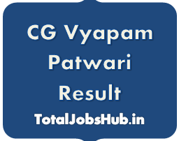 CG Vyapam Patwari Result 2018 cgvyapam Patwari Cut Off/Merit List