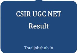 CSIR UGC NET Result