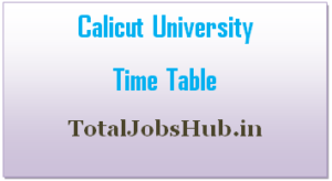 calicut university time table