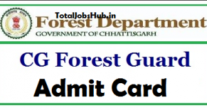 Chhattisgarh Forest Guard Admit Card
