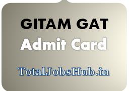 GITAM GAT Admit Card