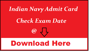 Indian Navy Sailor Admit Card