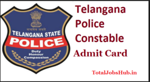 telangana police constable admit card