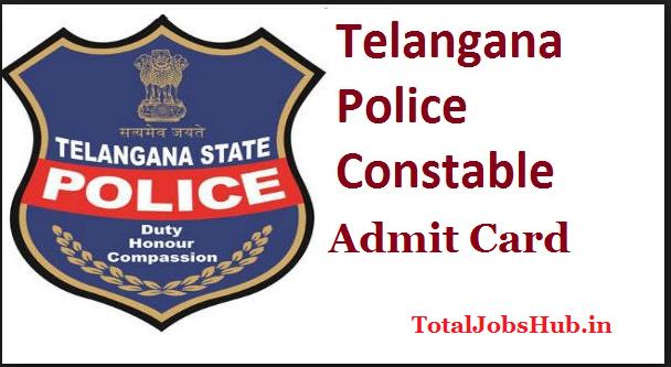 telangana police constable admit card