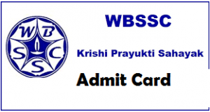 WBSSC Krishi Prayukti Sahayak Admit Card