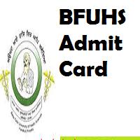 bfuhs admit card