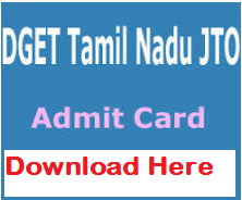 dget jto admit card