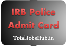 irb police admit card