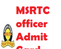 msrtc officer admit card