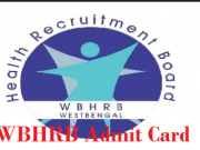wbhrb staff nurse admit card