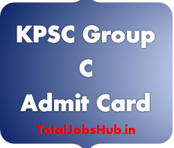 KPSC Group C Admit Card