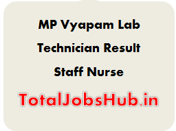 MP Vyapam Lab Technician Result
