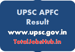 UPSC APFC Result
