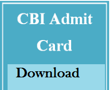 cbi admit card