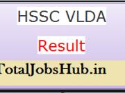 hssc vlda result