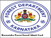 karnataka forest department admit card