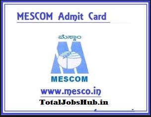 mescom admit card