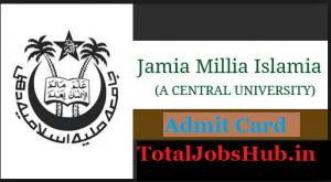 Jamia Millia Islamia Admit Card