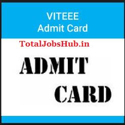 viteee admit card