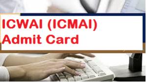 icwai admit card