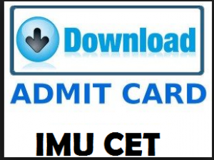 imu cet admit card