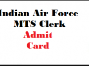 indian air force mts admit card