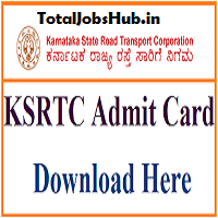 ksrtc admit card