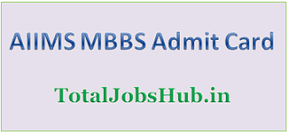 aiims mbbs admit card