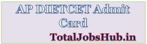 AP DIETCET Admit Card