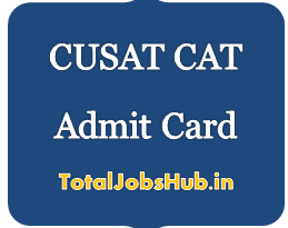 CUSAT CAT Admit Card