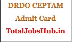 drdo ceptam 9 admit card