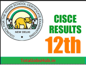 ISC Board Class 12th Result