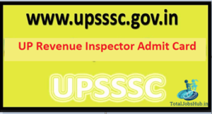 upsssc revenue inspector admit card