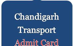 chandigarh transport admit card