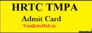 hrtc tmpa admit card