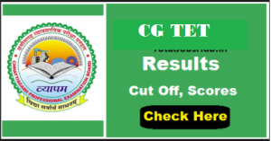 CGTET Result 2018