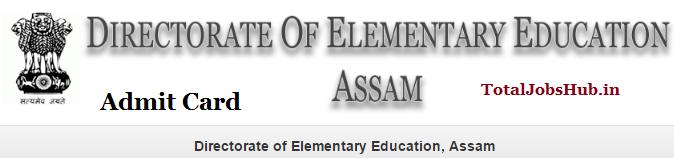 dee assam assistant teacher admit card
