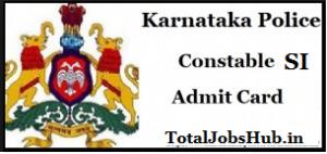karnataka police constable hall ticket